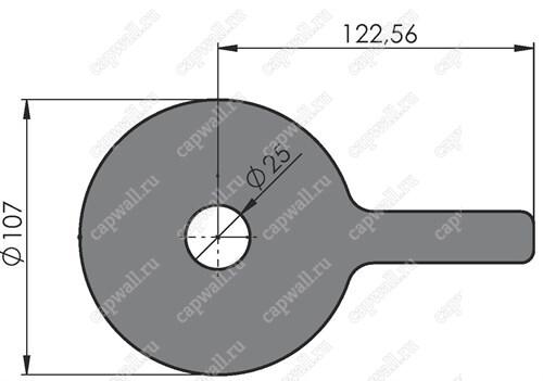 Предохранительная шайба Ду50 для счетчиков РСГ СИГНАЛ G16-G65